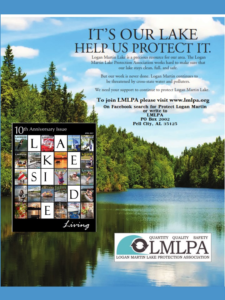 Logan Martin Lake Protection Association Ad In Anniversary Edition Of Lakeside  Living